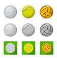 sport and ball symbol set vector image