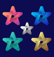star logo modern colorful logo vector image vector image