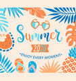 summer 2020 welcome banner vector image vector image