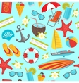 summer travel seamless pattern vector image