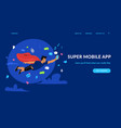 super mobile app and social networks vector image
