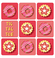 Tic-Tac-Toe of strawberry tart and donut vector image vector image