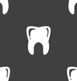 Tooth sign Seamless pattern on a gray background vector image