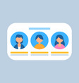 users profiles in row characters banner vector image vector image