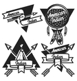 Vintage american indian emblems vector image