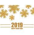year background with snowflakes vector image vector image