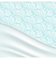 greeting card with silk drapery vector image