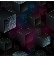 cube seamless pattern geometric background vector image