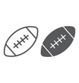 american football ball line and glyph icon game vector image