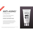 anti-aging hand cream contained in cosmetic tube vector image