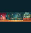 bar with live music cartoon interior vector image
