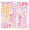 Benefits Of Coupons text background wordcloud vector image vector image