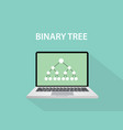 binary tree concept with dot connection like a vector image