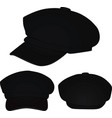 black stylish cap vector image vector image