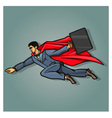 Businessman superhero vector image vector image