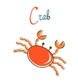C is for crab vector image vector image