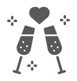 champagne glasses glyph icon celebrating and vector image vector image