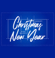 christmas and new year volleyball field greeting vector image