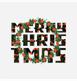 christmas card with lettering merry christmas vector image