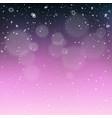 christmas holiday snowfall template vector image vector image