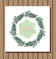 Christmas wreath3 vector image vector image