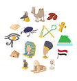 egypt icons cartoon vector image vector image