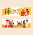 family is everything set banners vector image