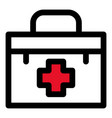 first aid kit icon outline style vector image vector image