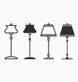 floor lamp icon for graphic and web design vector image vector image