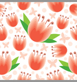 flower pattern tulip vector image vector image