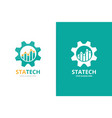 graph and gear logo combination unique chart and vector image vector image