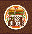 logo for classic burgers vector image vector image
