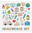 Medical doddle set vector image vector image