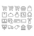 modern line style icons finance and banking vector image vector image