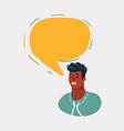 online chat man vector image