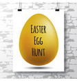 poster with a handwritten phrase-easter egg hunt vector image vector image