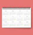 Realistic calendar Calendar template in Dutch 2016 vector image