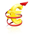 Rising euro or profits vector image