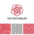 set logo design templates seamless patterns and vector image