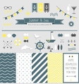 Set of summer elements for design vector image