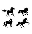 silhouettes horses vector image
