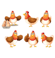 Six fat hens vector image vector image