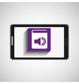 smartphone technology e-book display sound vector image