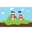solarcity solar panel rooftop house vector image