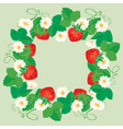 strawberry frame 3 380 vector image vector image