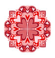 valentines day mandala art carpet ornament vector image