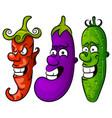 vegetable set vector image vector image