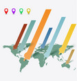 world map and a pointer business infographics vector image