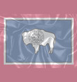 wyoming state silk flag vector image vector image