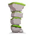 boulders stack with grass vector image